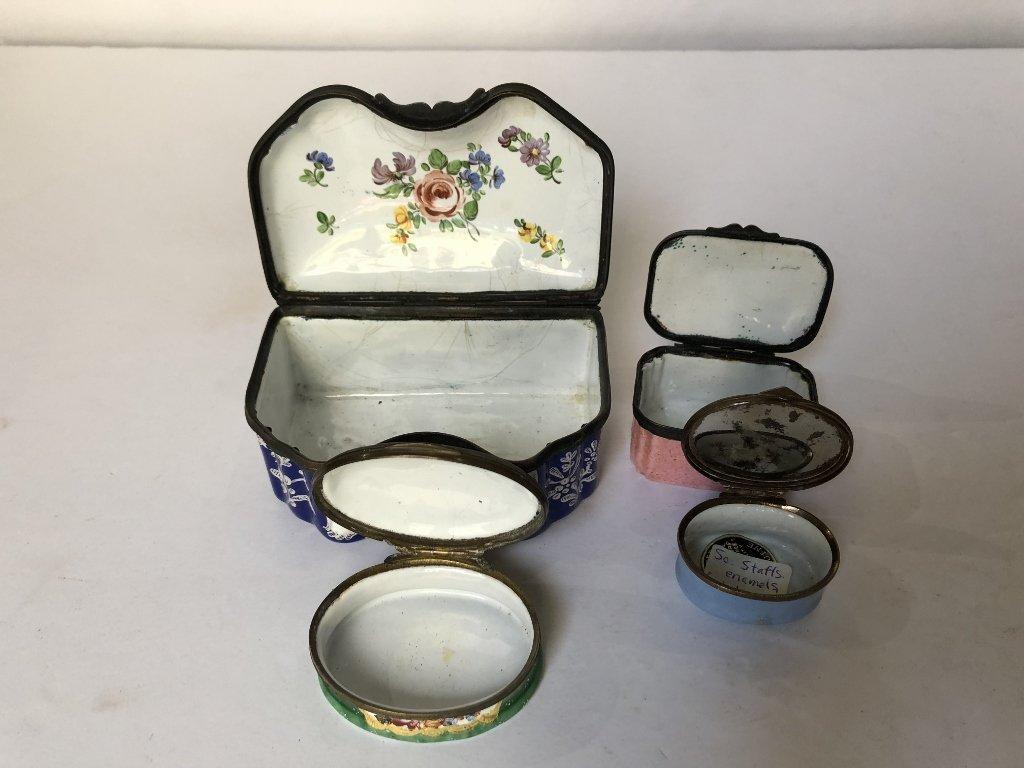 Four 18th/19th century enamel boxes - 3