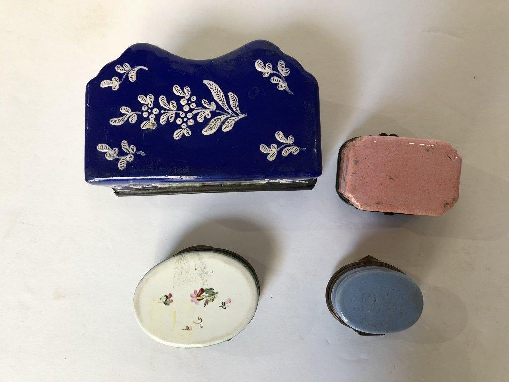 Four 18th/19th century enamel boxes - 4