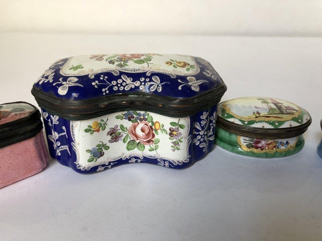 Four 18th/19th century enamel boxes - 5