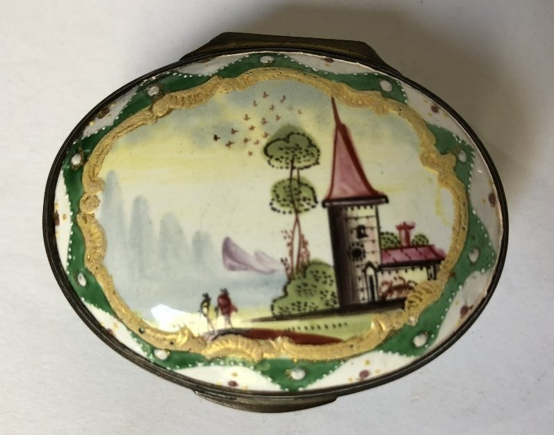 Four 18th/19th century enamel boxes - 7