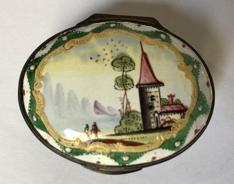 Four 18th/19th century enamel boxes - 7