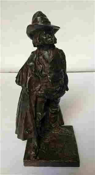 """Boy Brigand"" bronze by Robert Paul Delandre, c1920"