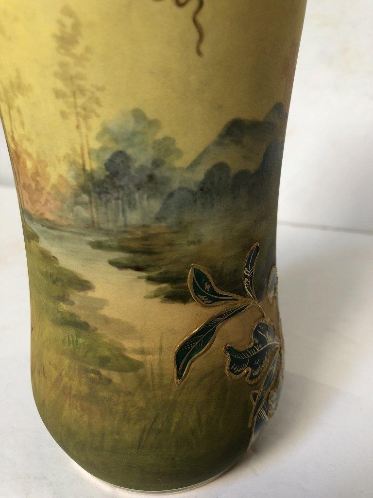 Porcelain tree vase by Royal Bonn, c1900 - 4