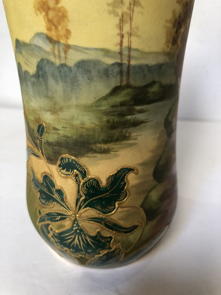 Porcelain tree vase by Royal Bonn, c1900 - 5