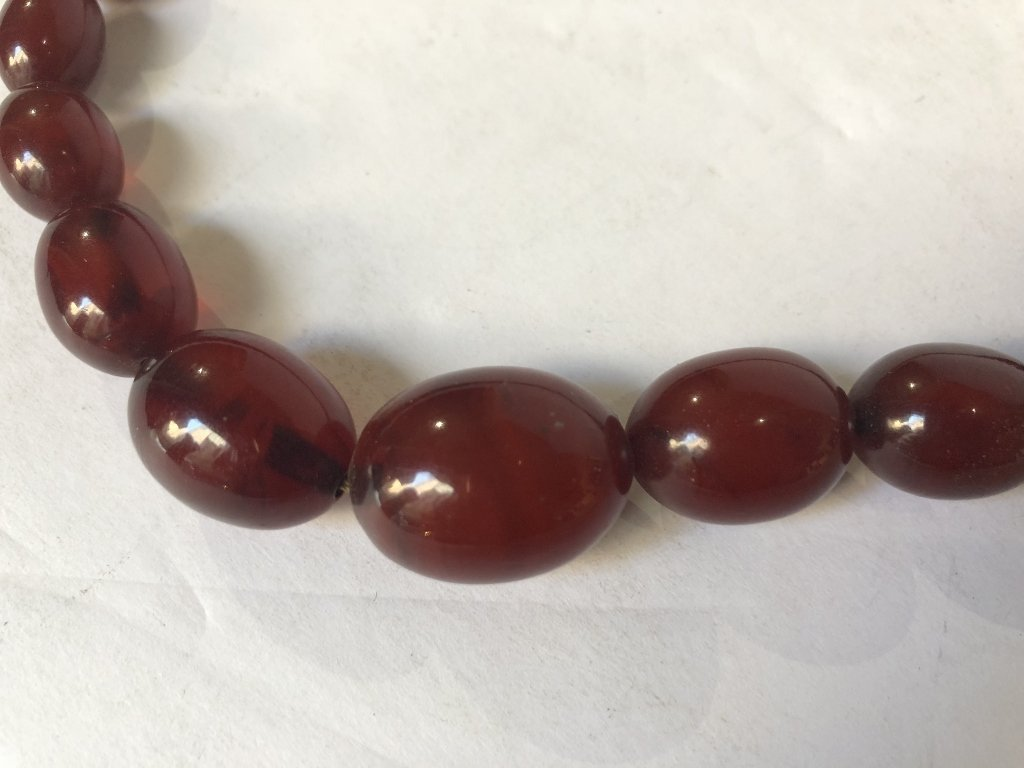 Cherry amber necklace - 2