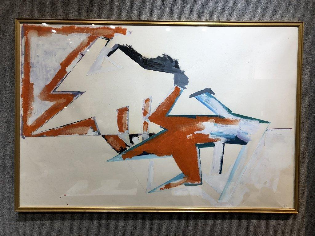 Large oil on paper, Dennis Ashbaugh, Orrin Riley