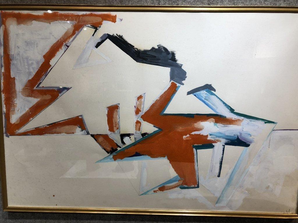 Large oil on paper, Dennis Ashbaugh, Orrin Riley - 2