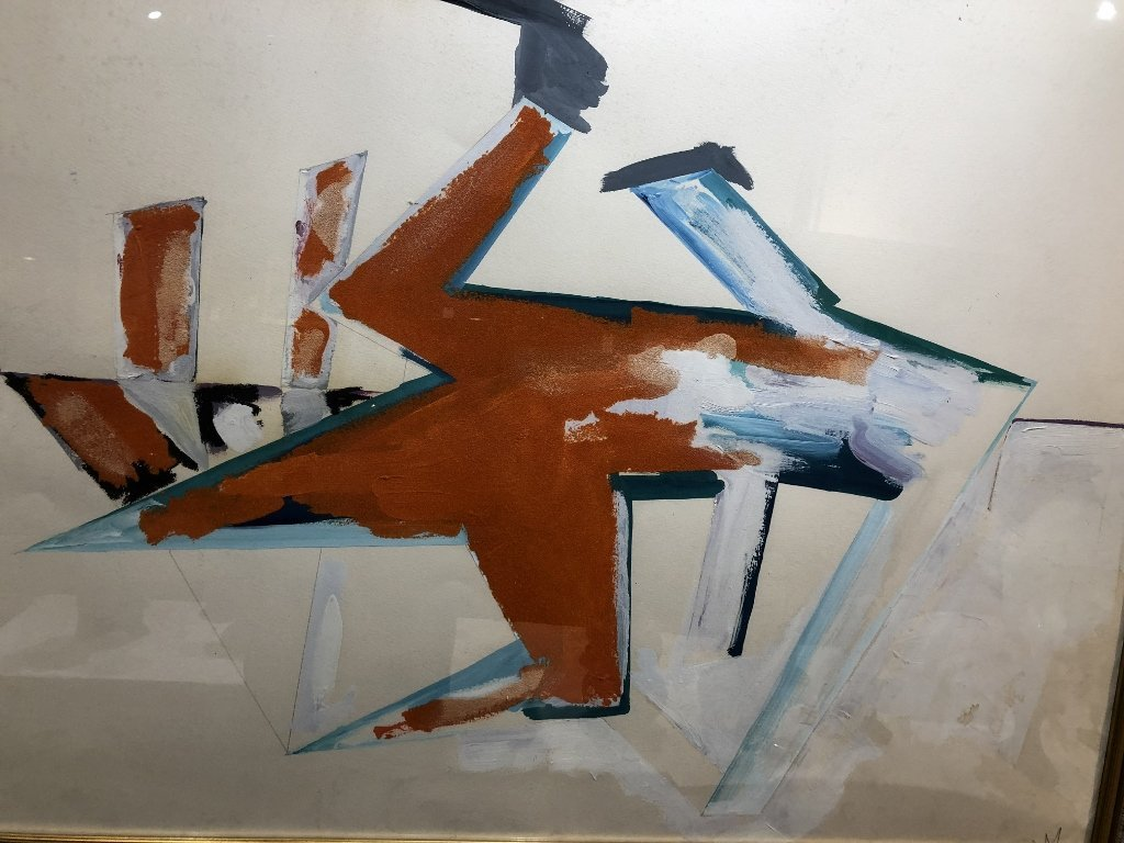 Large oil on paper, Dennis Ashbaugh, Orrin Riley - 3