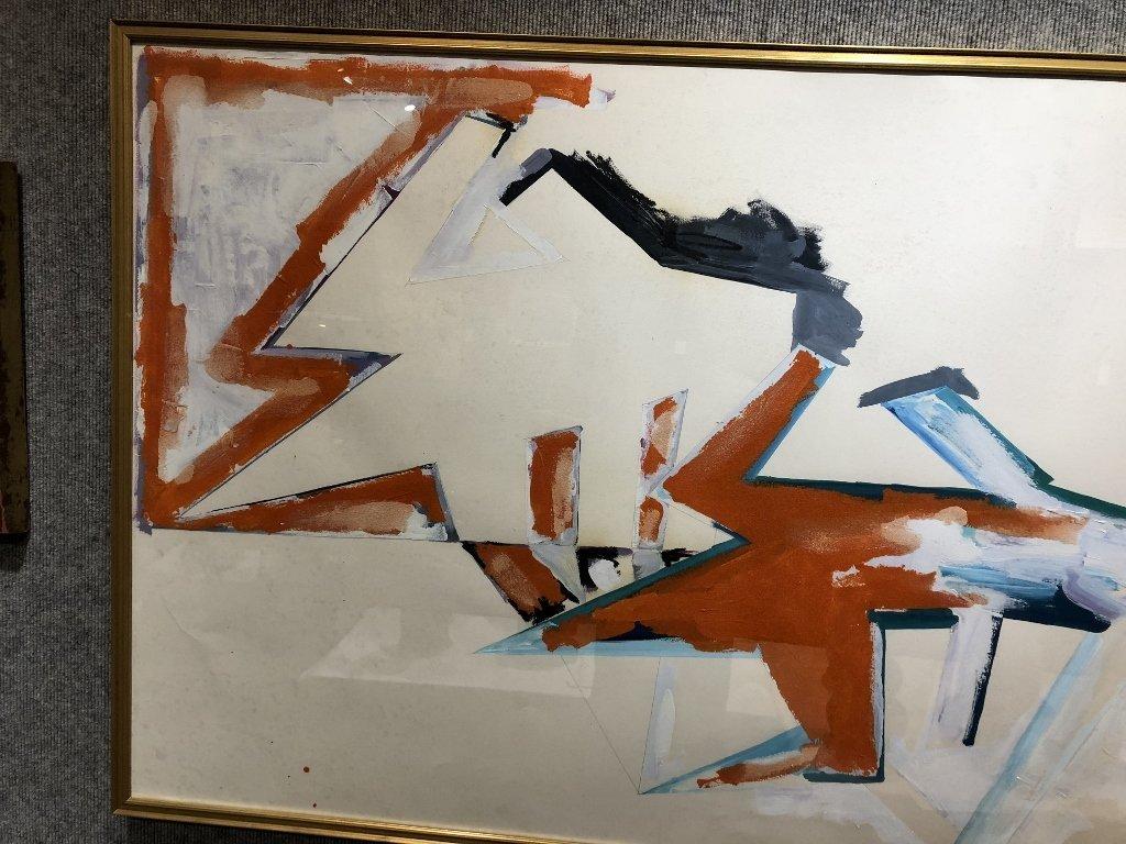 Large oil on paper, Dennis Ashbaugh, Orrin Riley - 4