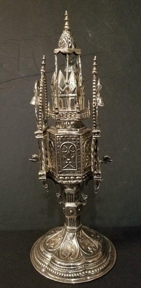 Sterling silver spice tower, circa 1965, 15.2 t. oz - 4