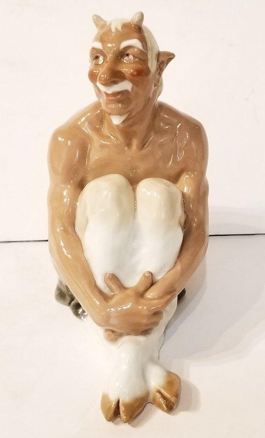 Meissen porc Satyr figurine, c.1920
