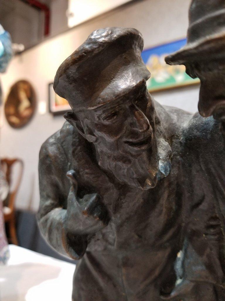 Anti Semitic bronze of Jews by Gheorghe Stanescu - 2