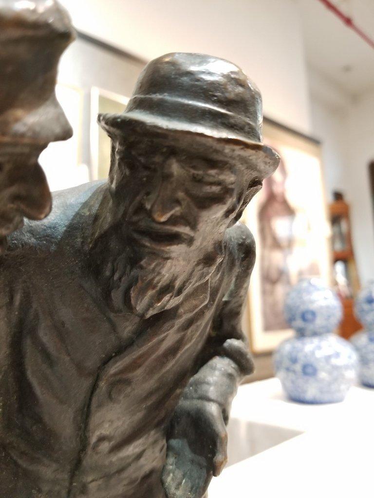 Anti Semitic bronze of Jews by Gheorghe Stanescu - 3