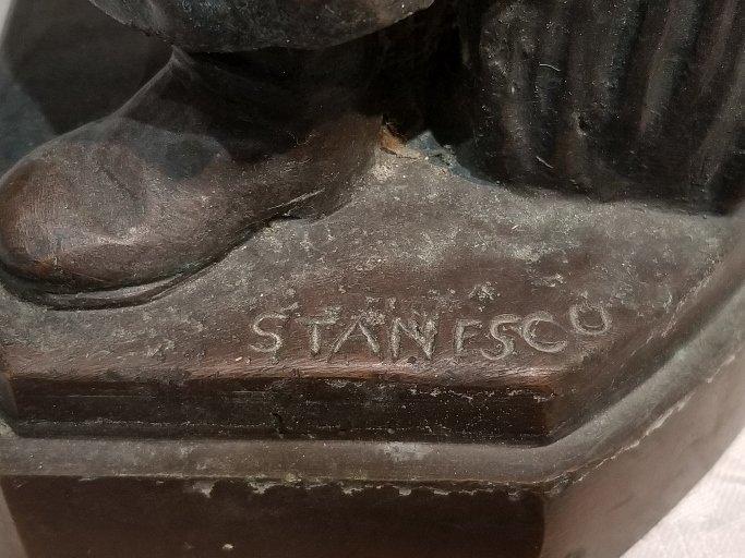Anti Semitic bronze of Jews by Gheorghe Stanescu - 5