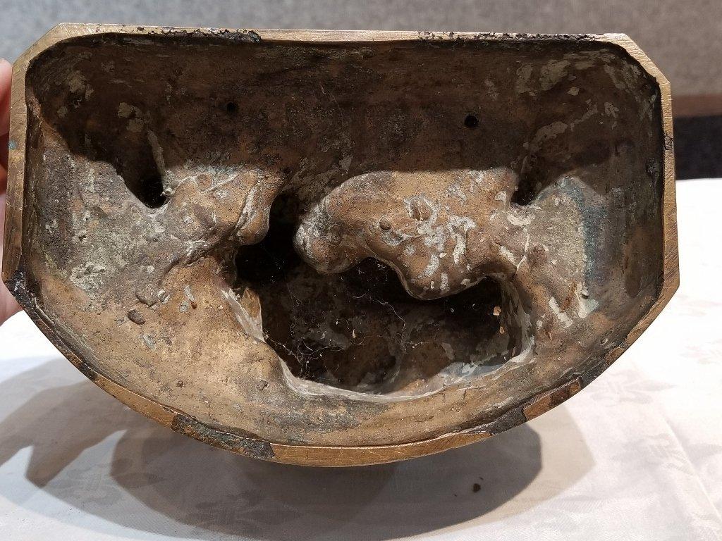 Anti Semitic bronze of Jews by Gheorghe Stanescu - 6