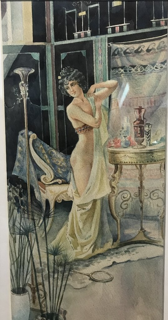 Watercolor of nude, Serge de Solomko(Russian 1867-1928) - 2