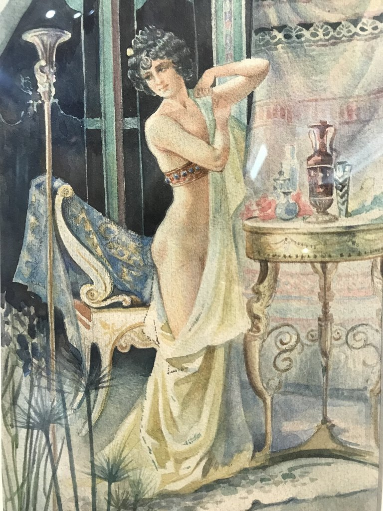 Watercolor of nude, Serge de Solomko(Russian 1867-1928) - 4