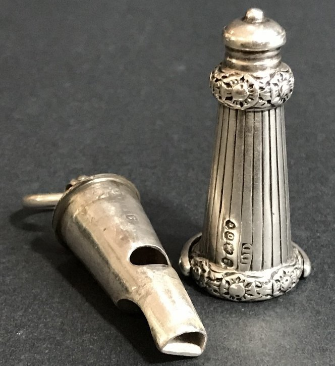 Georgian silver whistle, c1830, 1.2 t. oz