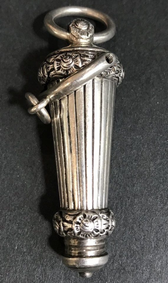 Georgian silver whistle, c1830, 1.2 t. oz - 3