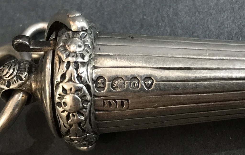 Georgian silver whistle, c1830, 1.2 t. oz - 4