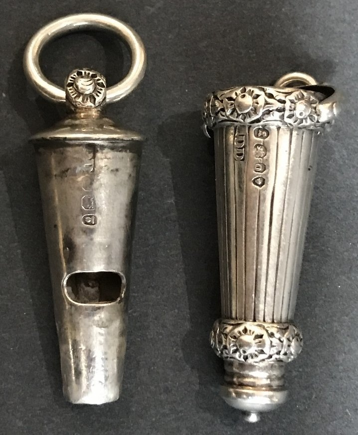 Georgian silver whistle, c1830, 1.2 t. oz - 5