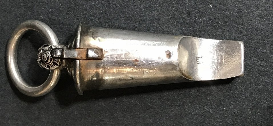 Georgian silver whistle, c1830, 1.2 t. oz - 6