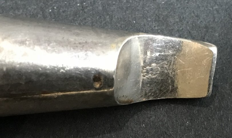 Georgian silver whistle, c1830, 1.2 t. oz - 7