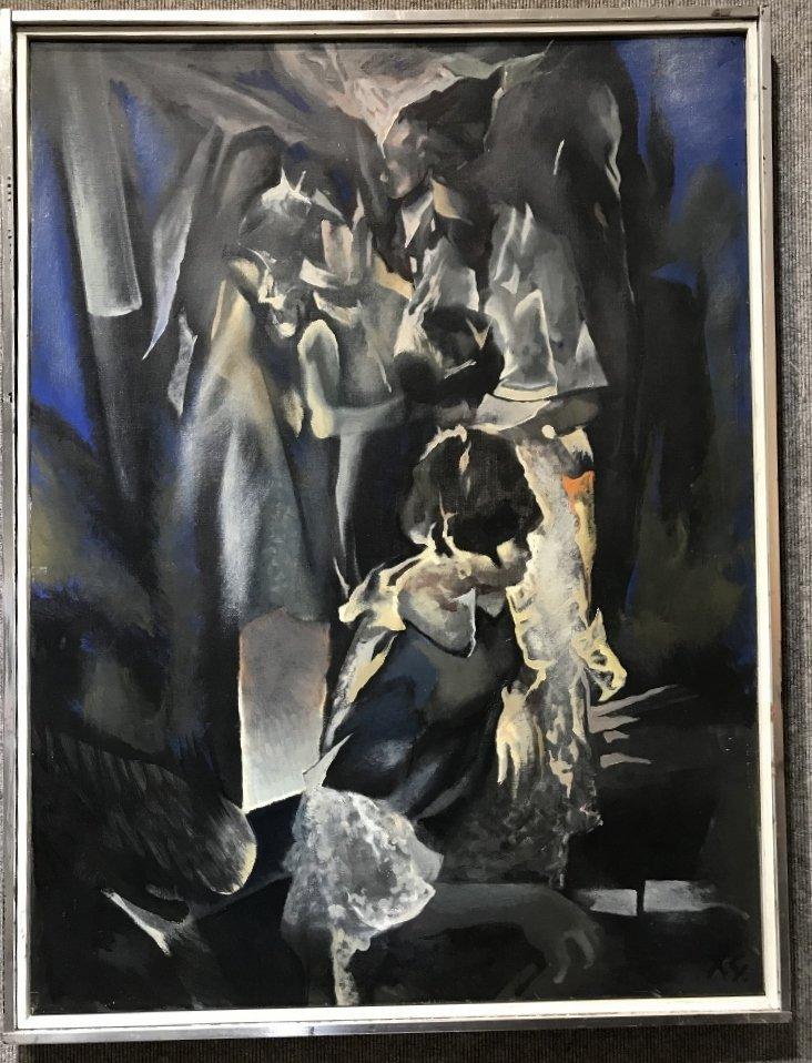 """The Dance"" oil on canvas by Xavier Gonzalez"