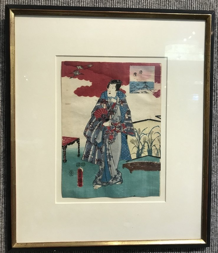 Japanese woodblock print of man by Toyokuni III