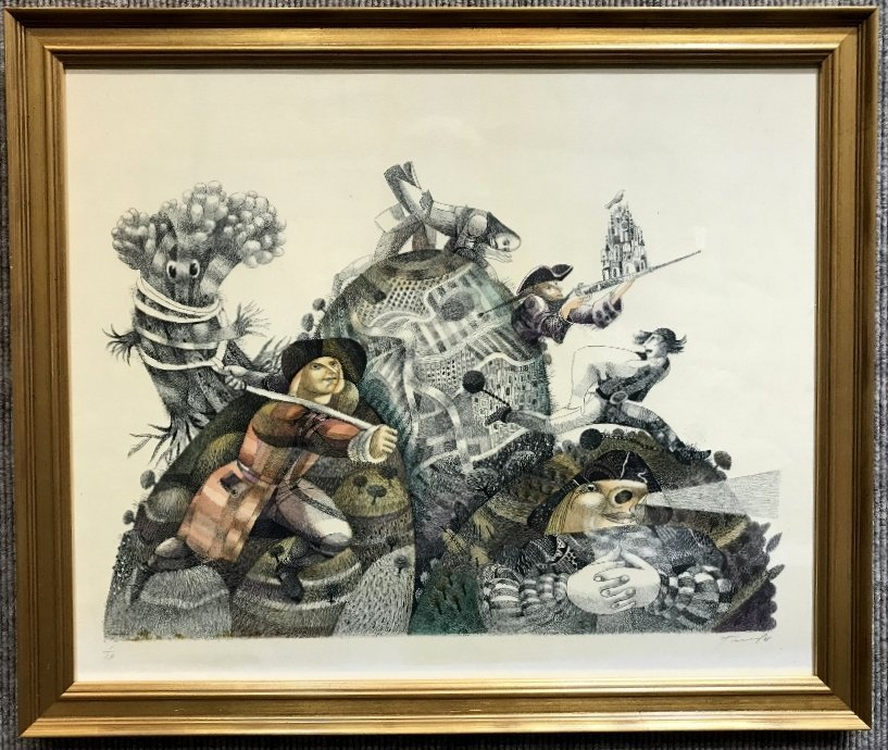 Russian print by Yuri Charyshnikov-Ambassador