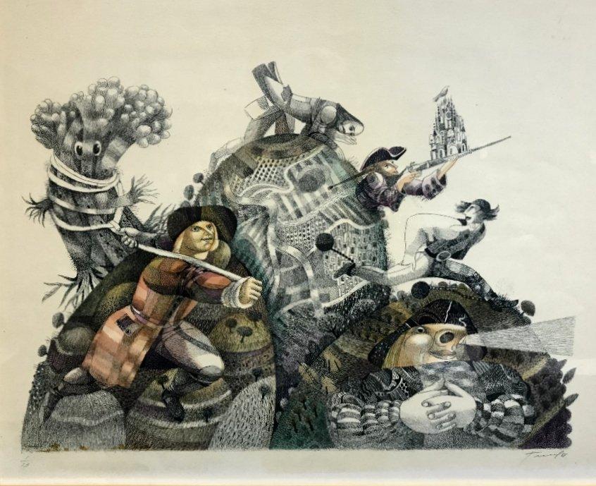 Russian print by Yuri Charyshnikov-Ambassador - 5