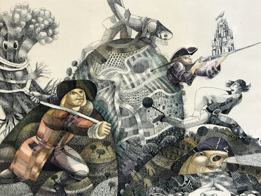 Russian print by Yuri Charyshnikov-Ambassador - 6