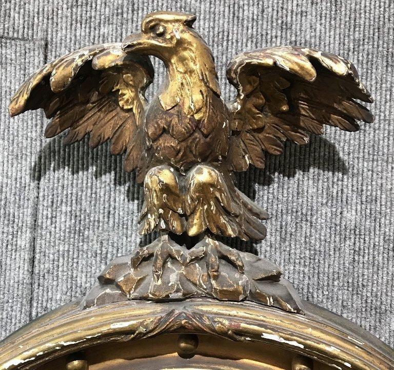 Convex mirror in gilt wood eagle frame - 2