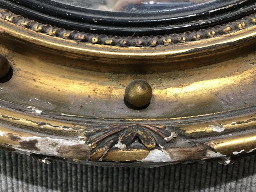Convex mirror in gilt wood eagle frame - 3