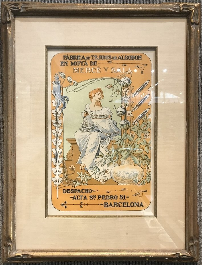 Orig poster by Bonaventura Casa de Valls, c.1900