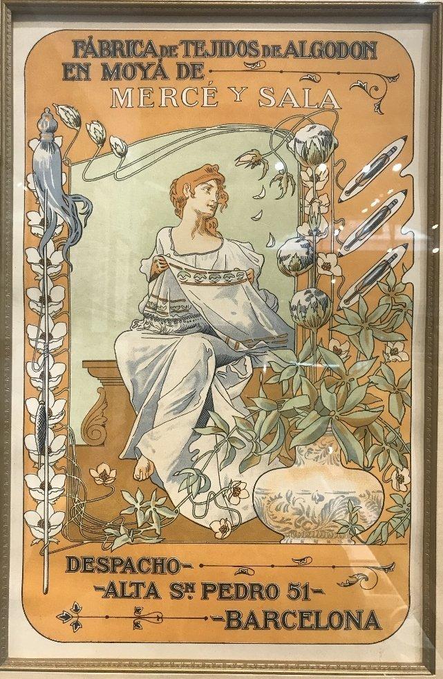 Orig poster by Bonaventura Casa de Valls, c.1900 - 2