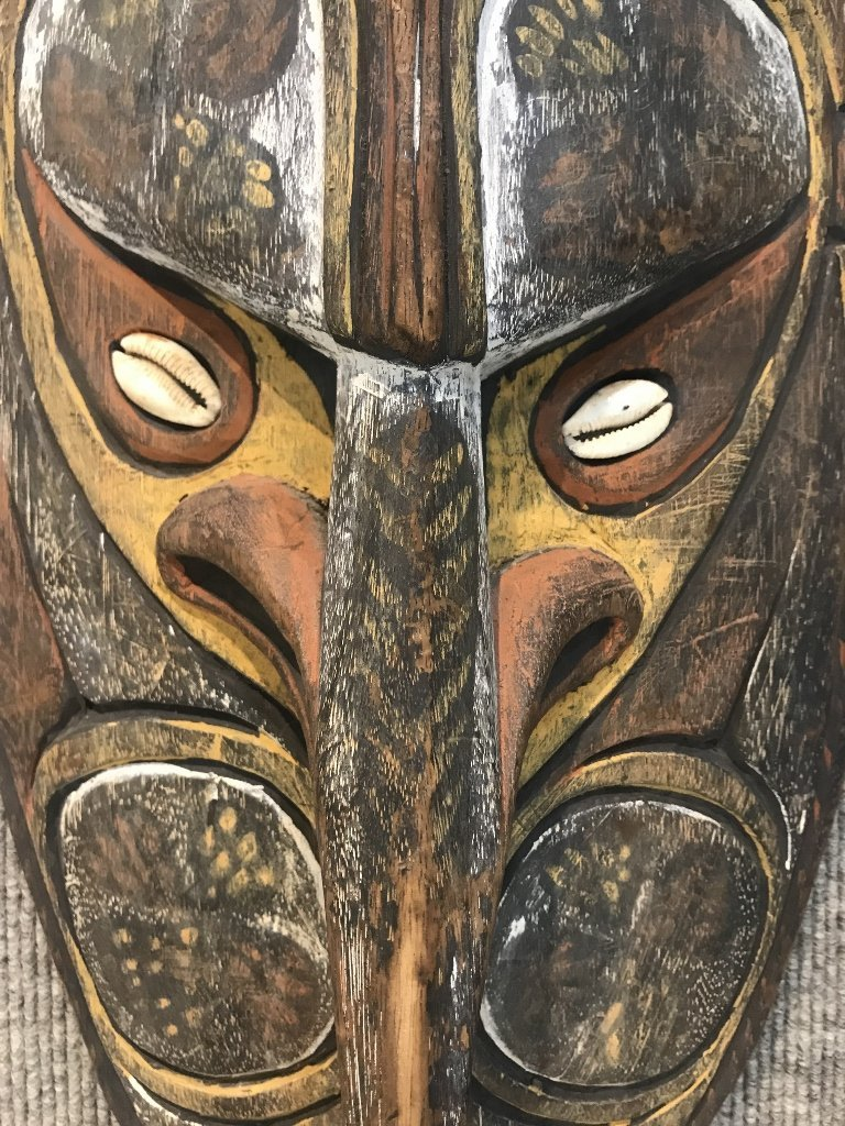 New Guinea painted wood mask - 6