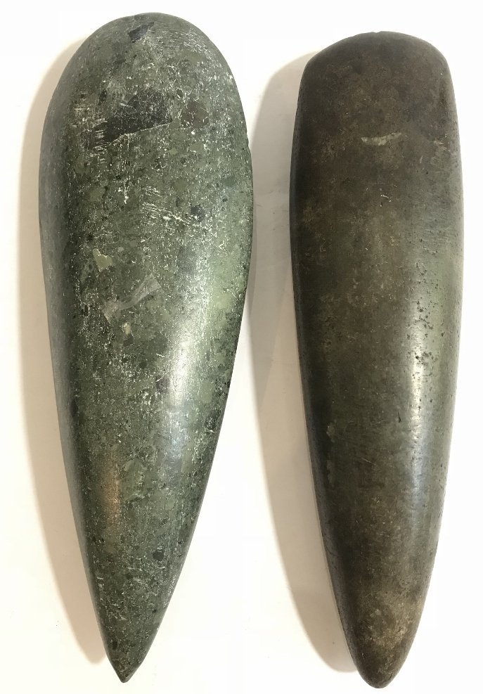 Two possibly Pre-Columbian taino celts