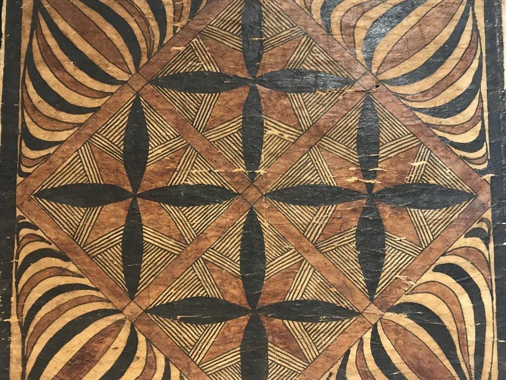 Square tribal African weaving, framed - 2