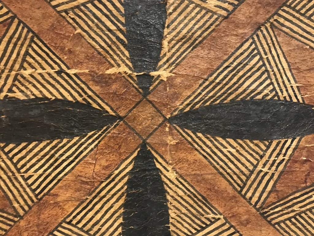 Square tribal African weaving, framed - 3