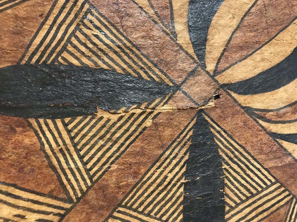 Square tribal African weaving, framed - 5