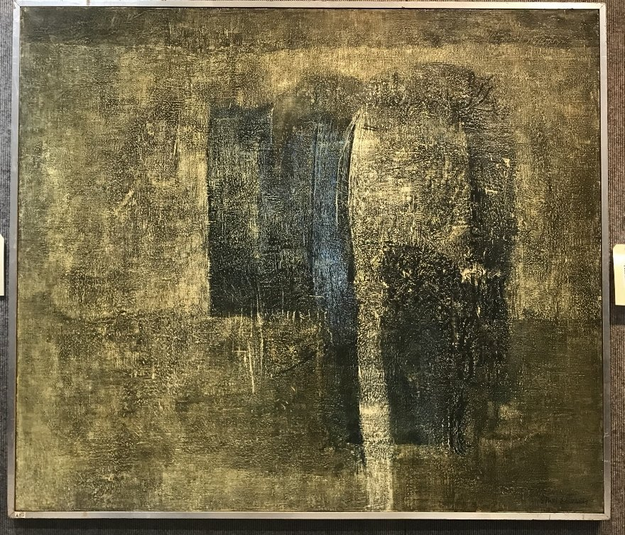 .Large abstract painting by Ethel Edwards