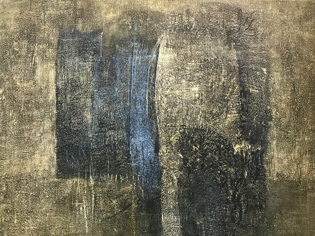 .Large abstract painting by Ethel Edwards - 3