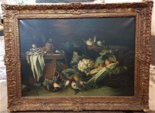 Large still life painting ,19th cen, unsigned