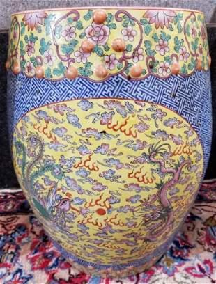 Chinese porcelain garden seat, c.1950