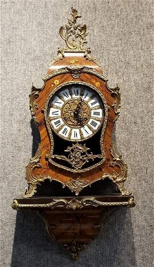 Louis XV style shelf clock, Italian, c.1950