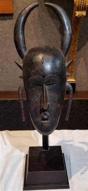 African wood mask, Senufo-Hunt Estate, c.1910