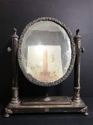 Neoclassical silver on copper mirror, c.1850