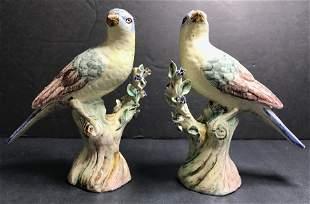 Pair of 18th/19th century birds-Kaplan estate