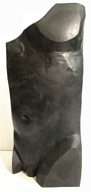 Modern bronze sculpture torso,John Bray(British 20th)
